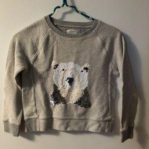 Girls J Crewcuts polar bear sequin sweatshirt
